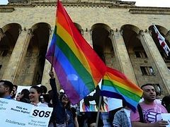 Graffiting Gay Activists Detained in Georgia