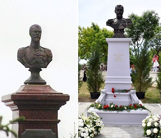 New busts of Tsar-Martyr Nicholas II unveiled in Tambov (left) and Yalta (right)