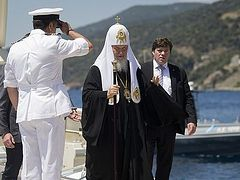 Patriarch Kirill of Moscow and All Russia begins his pilgrimage visit to Mount Athos