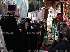 Patriarch Kirill served a Moleben in St. Panteleimon Monastery on Athos