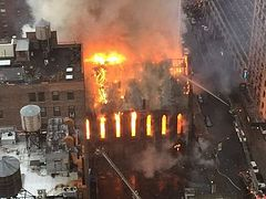 Tragic cathedral fire sparked by Easter candles