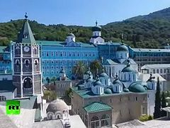 Amazing drone flyby: Mount Athos, the 'Holy Mountain' of Orthodox Christianity
