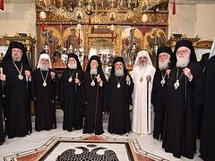 The work of the Small Synaxis of the Primates has begun. The Message of the Holy and Great Council will be addressed today