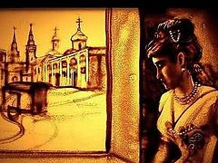 """A film, """"White Angel"""" about the Holy Grand Duchess Elizabeth Feodorovna Romanova created in sand (+Video)"""