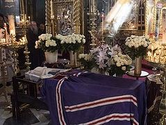 Igumen of Athonite St. Panteleimon Monastery buried (+ PHOTOS)