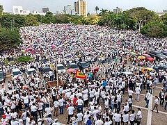 In Colombia more than 70,000 held rally in defense of traditional family values