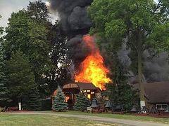 Fire destroys church at Ascension Monastery Church, Clinton, MI
