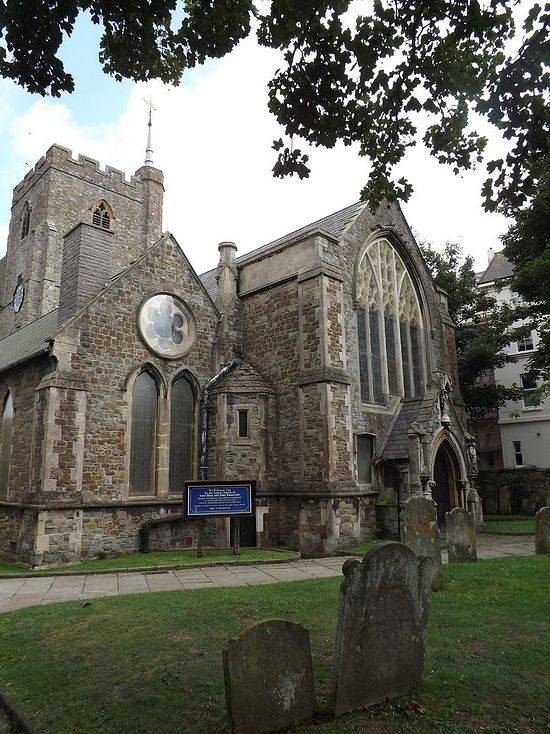 Church of St. Mary and St. Eanswythe in Folkestone, Kent