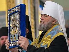 The People of Kursk Bid Farewell to the Icon of the Mother of God