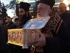 Relics of St Demetrius of Thessaloniki Welcomed in Belarus