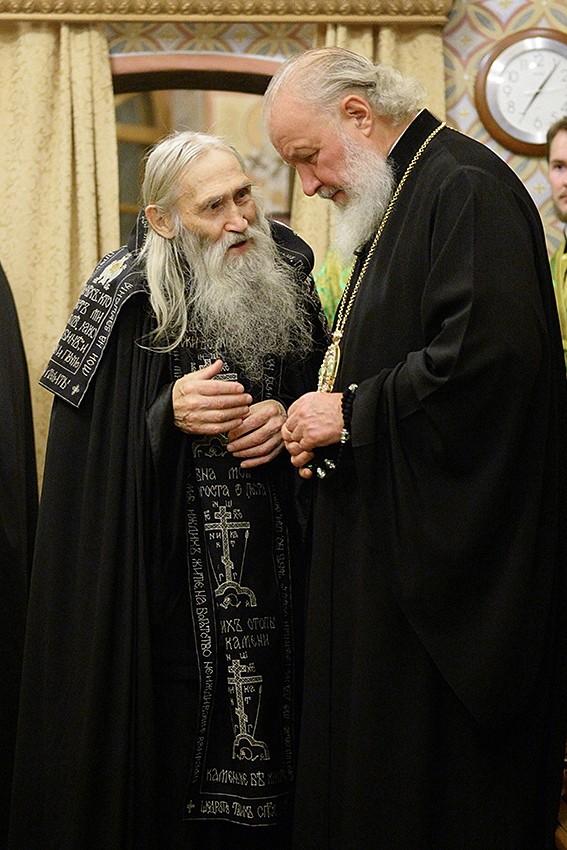 С духовником – схиархимандритом Илием
