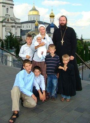 Archpriest Nikolai Zagorodniy with family