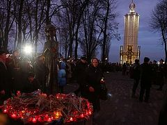 Victims of Holodomor prayerfully commemorated with minute of silence, lit candles in Kiev