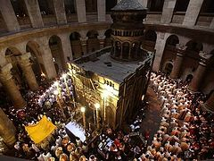 Patriarch of Jerusalem: no sacrilege in opening Lord's tomb; believer should not seek for signs