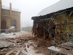 Alexander Nevsky Sunday School destroyed during shelling of Debaltseve