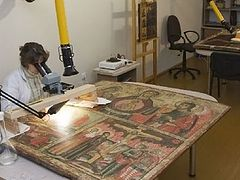 14th century fresco pieced together from debris to be returned to Novgorod's St. Sophia Cathedral