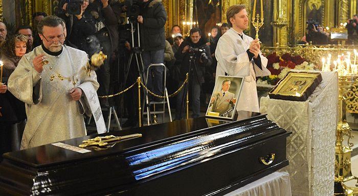 Funeral for Valery Khalilov. Photo: https://mospat.ru