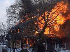 Church at Russian Monastery of Myrrhbearing Women burns