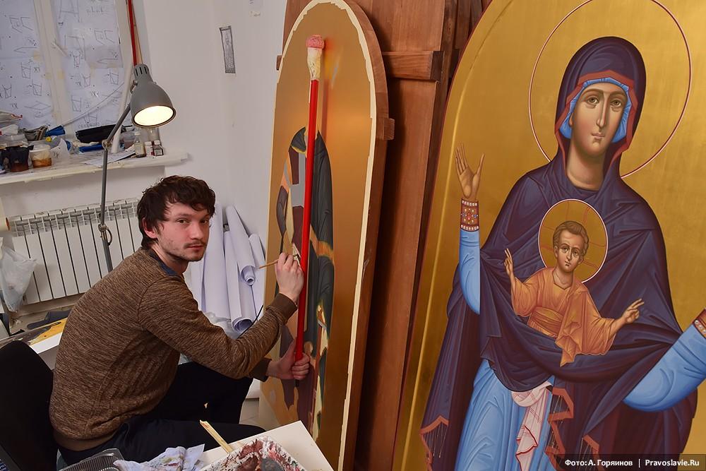 Иконы великомученика Димитрия Солунского и Божией Матери «Знамение»
