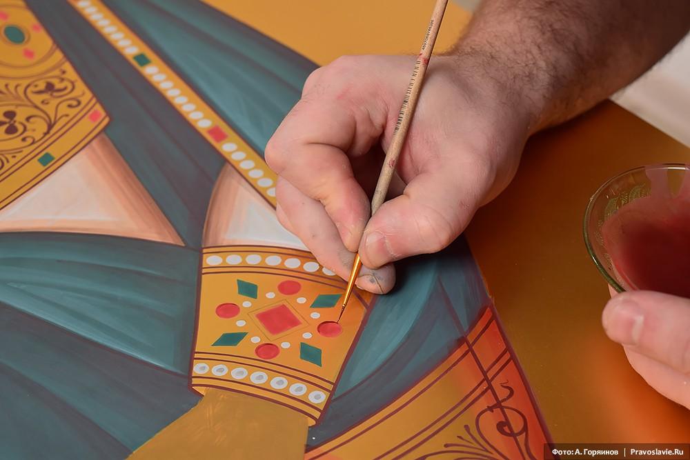Святой праведный Иоанн Кронштадтский. Фрагмент иконы