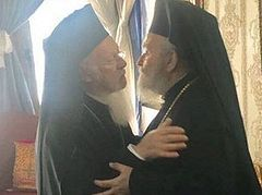 Ecumenical Patriarch visits deposed Patriarch Irenaios of Jerusalem