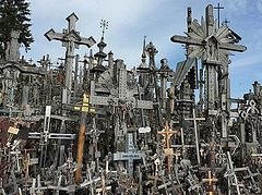 Fire broke out at Lithuania's Hill of Crosses