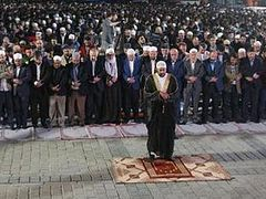 Muslim group prays in front of Agia Sophia, demands its re-conversion into mosque