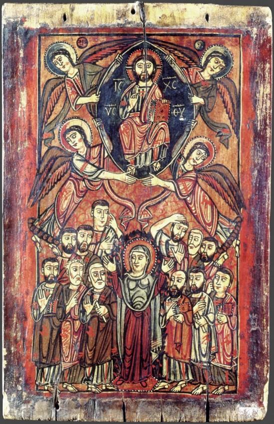 Вознесение Господне. Икона. VIII-IX в. Монастырь св.Екатерины, Синай