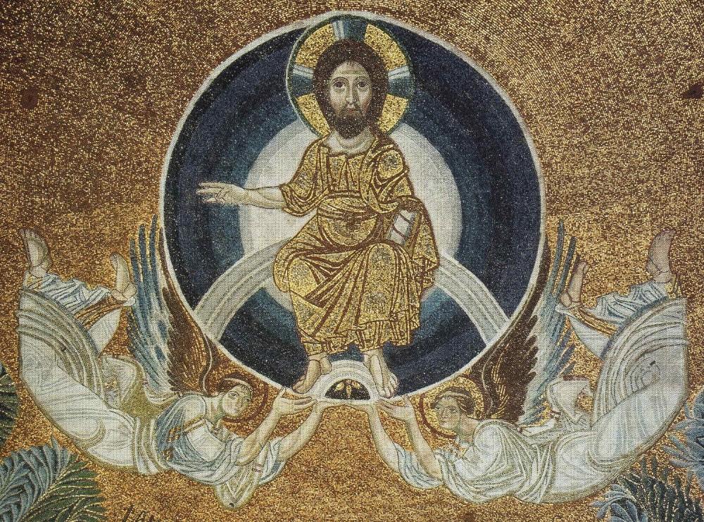 Вознесение Господне. Мозаика. IX в. Храм Св. Софии. Фессалоники, Греция