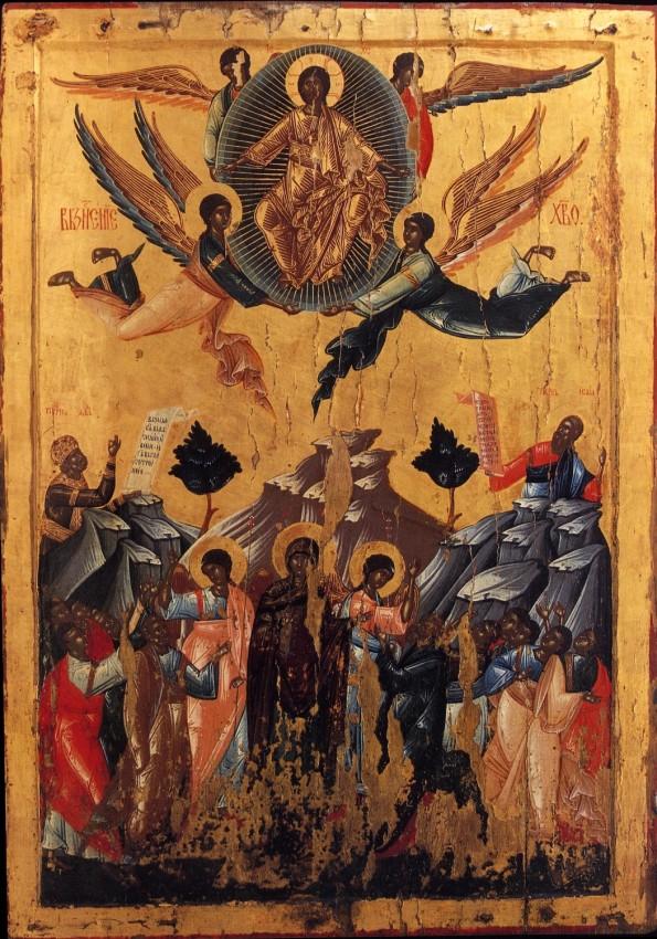 Вознесение Господне. Икона. XVI в. Монастырь Высокие Дечаны, Косово, Сербия