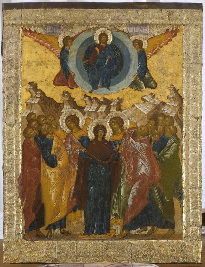 Вознесение Господне. Икона. XV в. Кирилло-Белозерский музей-заповедник