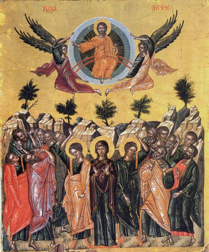 Вознесение Господне. Икона. Византия