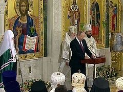 Vladimir Putin: It's impossible to imagine Russia without the spiritual experience of the Russian Orthodox Church