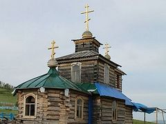 79-year-old Buryatia Republic villager builds church with his own hands and personal funds