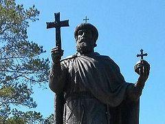 Monument to St. Vladimir installed on Valaam