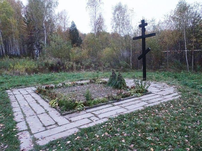 Захоронение 1991 года. Снимок сделан в октябре 2017 года.