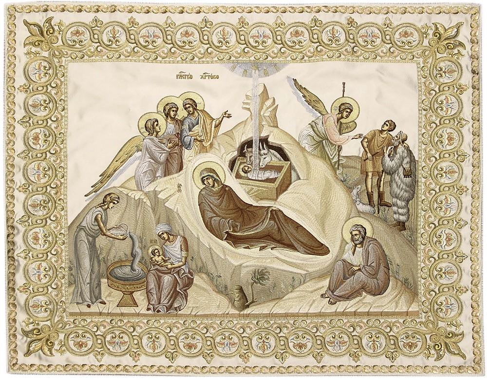 Покровцы Тивериада с иконой Рождества Христова