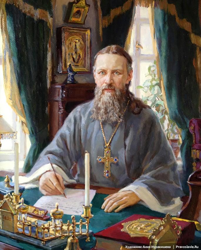 Άγιος Ιωάννης της Κροστάνδης στο σπιτικό του γραφείο