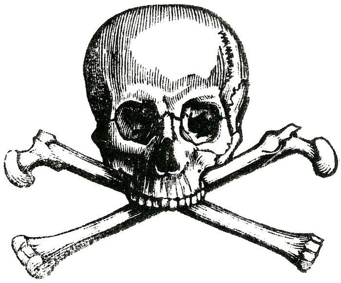 Ранняя эмблема тайного общества «Череп и кости»