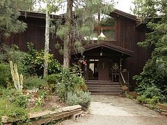 Wildfire threatens St. Barbara's Monastery in Santa Paula, California
