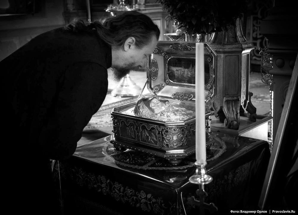 Ковчег с частью главы Апостола Андрея - главная святыня обители