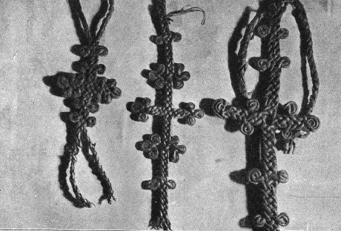 Схимнический параман, найденный при раскопках пещер