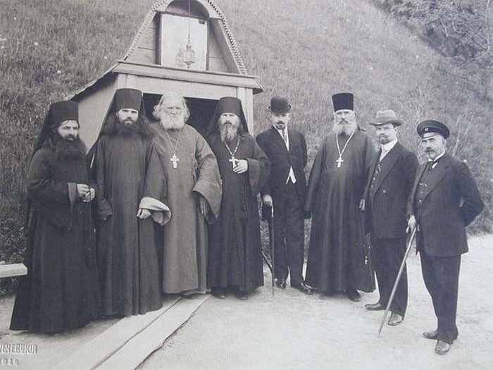 Игумен Валентин, князь Жевахов, горные инженеры и скитские монахи 1914 год