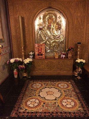 Икона Скоропослушница из Афонского монастыря Дохиар - обители Святых Архангелов