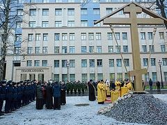 Foundation stone of Church of Romanov doctor St. Eugene Botkin consecrated in St. Petersburg
