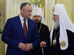 Pat. Kirill accepts President Dodon's invitation to attend World Congress of Families in Moldova