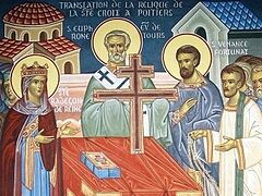 Святая Радегунда и перенесение части Животворящего Креста Господня во Францию