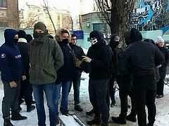 Members of Ukrainian terrorist group attack offices of Union of Orthodox Journalists in Kiev