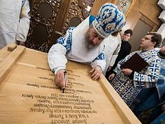 Met. Onuphry consecrates Kiev's oldest wooden church on feast of Meeting of the Lord (+ VIDEO)