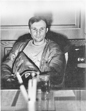 Гагарин после полета